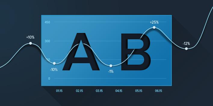 تست A/B روی صفحه فرود