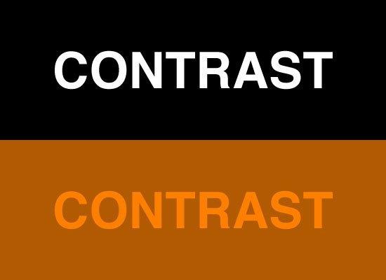 کنتراست - تضاد